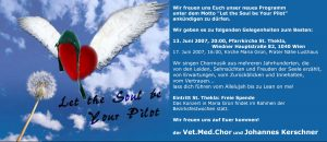 Let the Soul be your Pilot 2007 Einladung