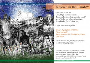 Rejoice the Lamb 2008 Flyer