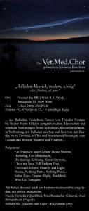 Balladen Einladung 2006